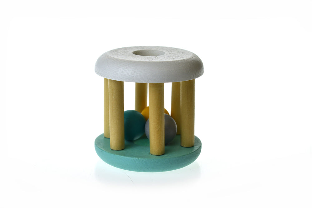 Calm and Breezy Wooden Rattle - Sage