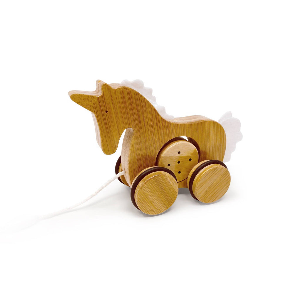 Kinderfeets - Bamboo Pull Along Toy Unicorn