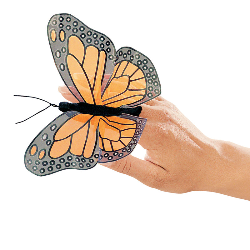 Folkmanis Finger Puppet - Mini Monarch Butterfly