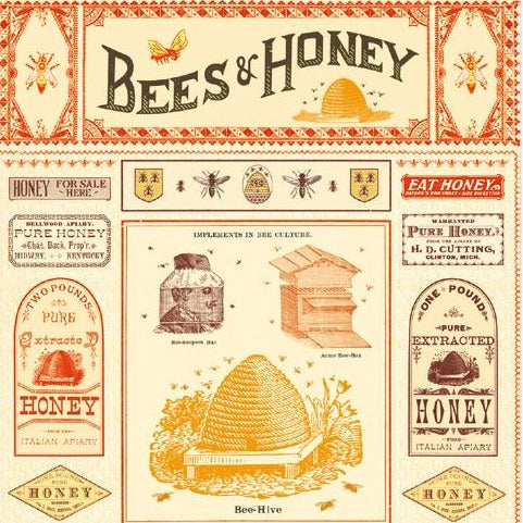 Vintage Poster - Bees and Honey
