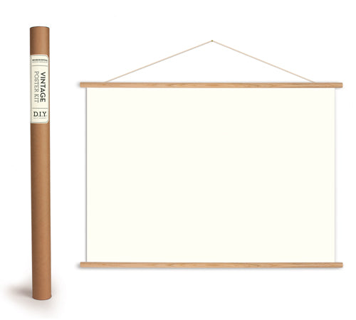 Wooden Poster Hanger Kit Horizontal
