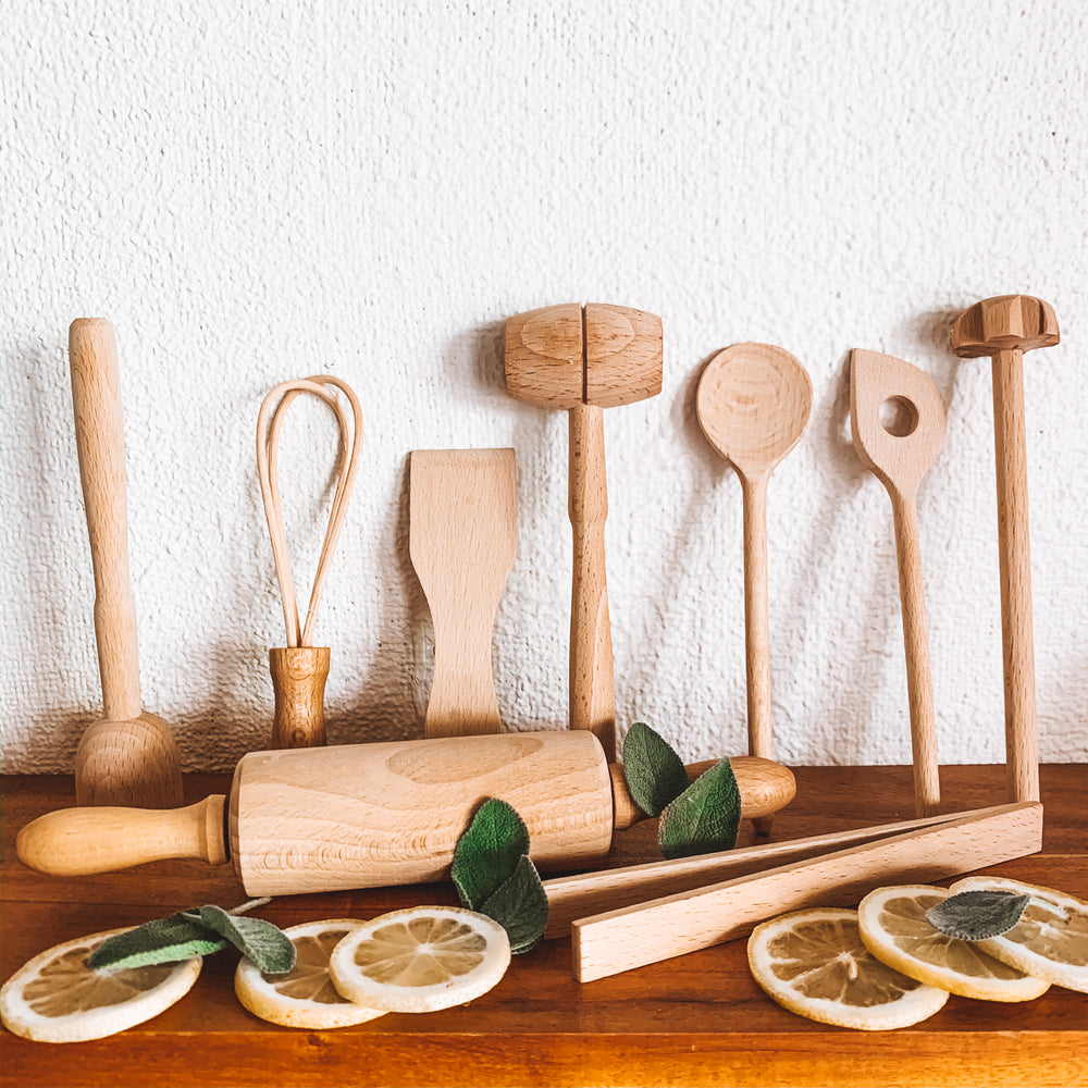 Beech Wood Cooking Set