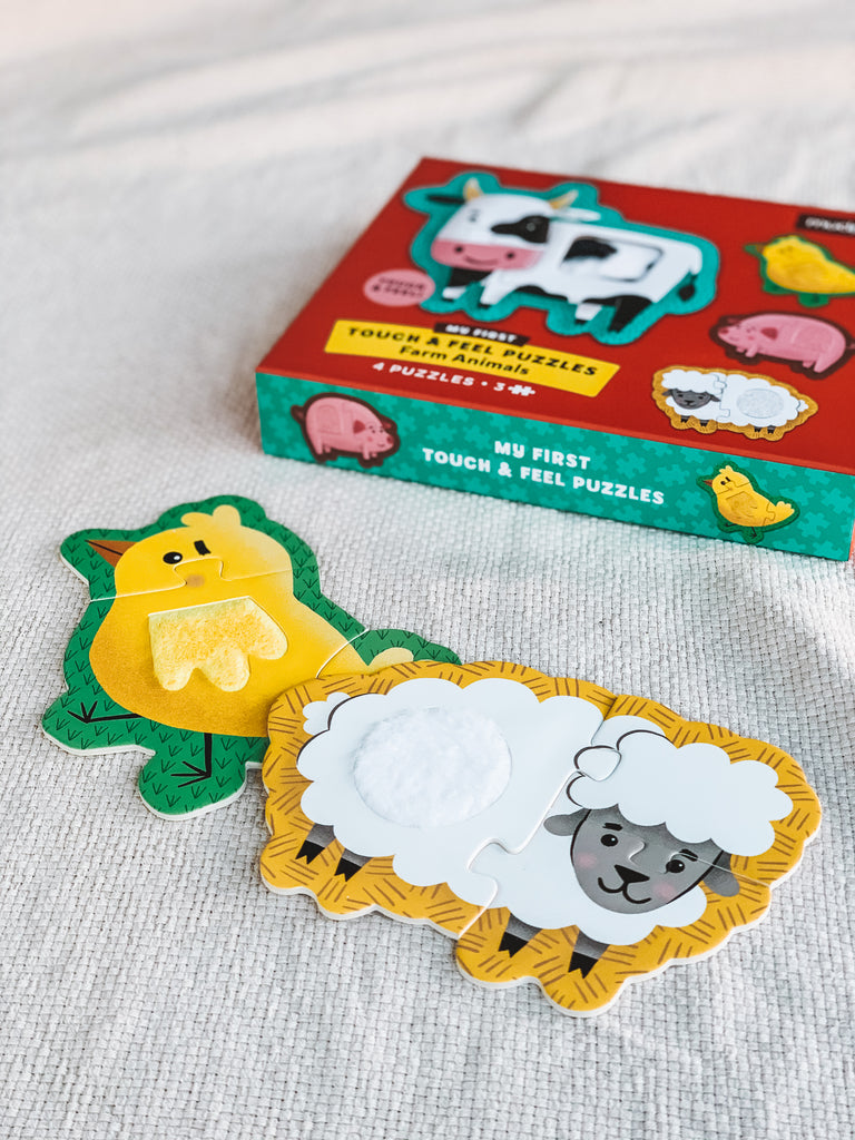 Mudpuppy Touch and Feel Puzzle - Farm Animals