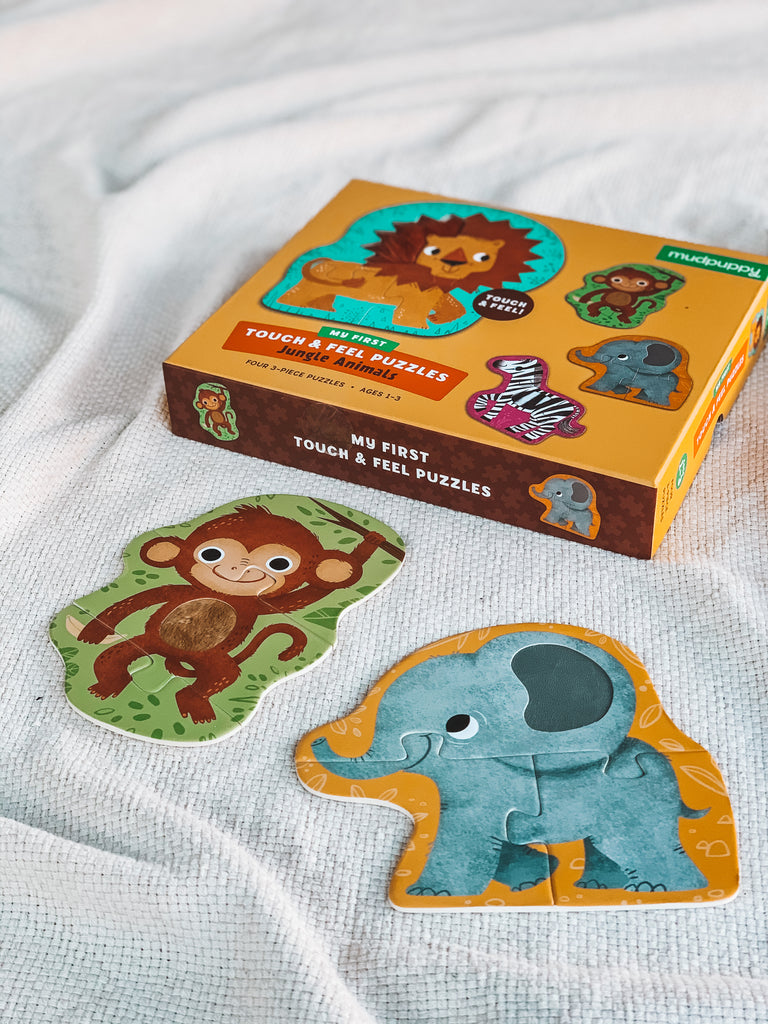 Mudpuppy Touch and Feel Puzzle - Jungle Animals