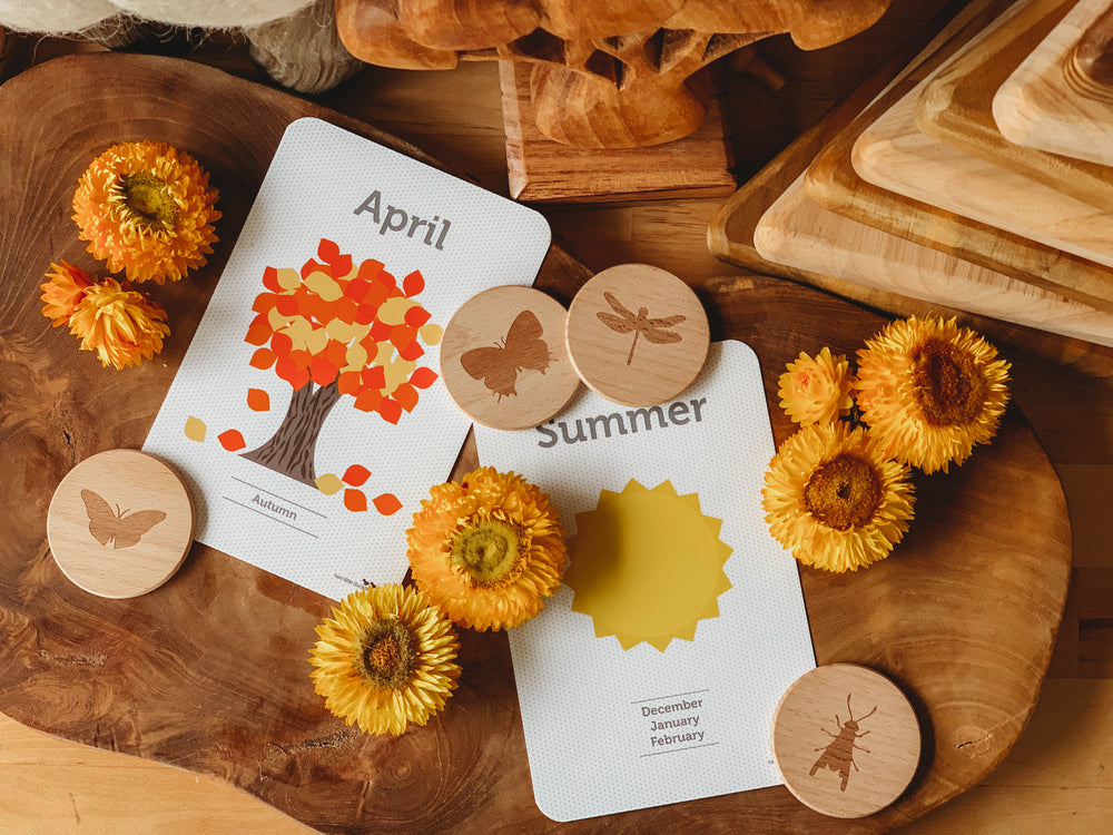 Days, Months & Season Flash Cards