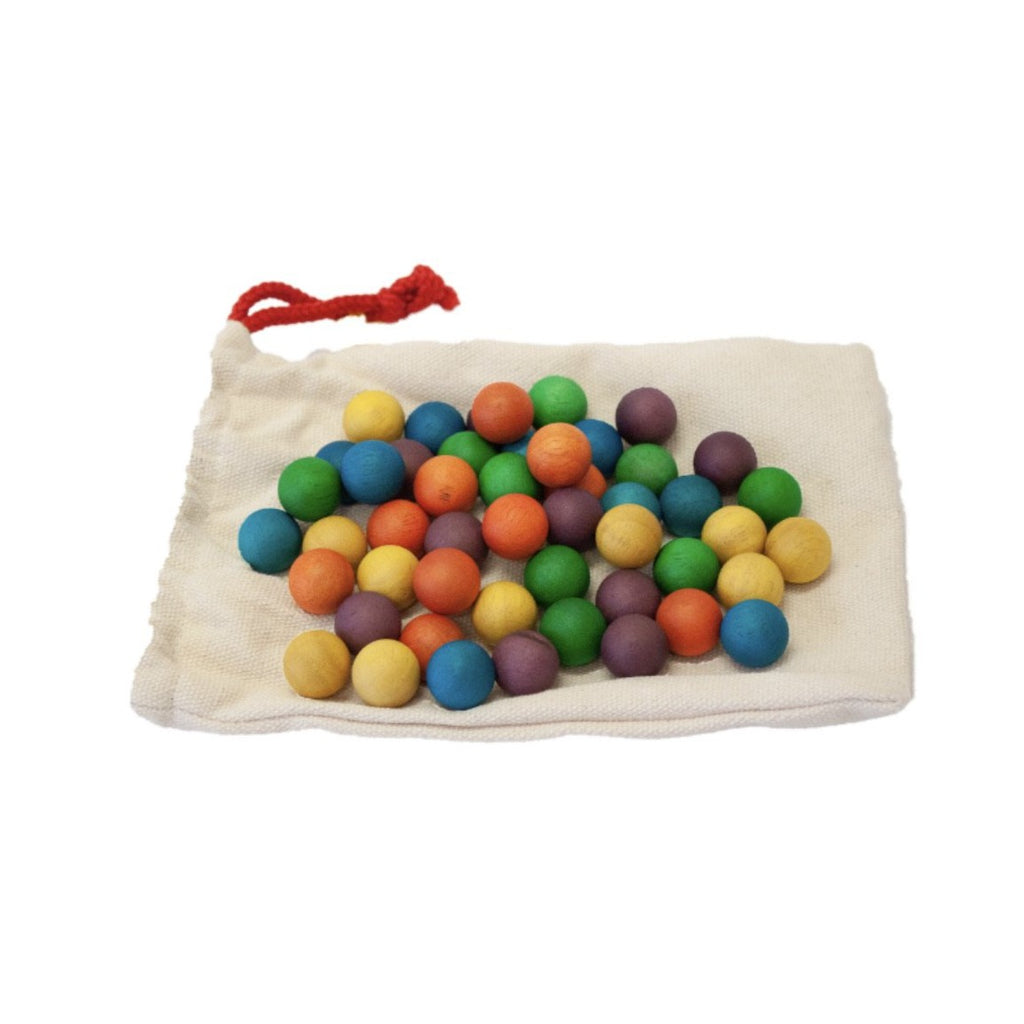 Qtoys - Rainbow Wooden Balls - Set of 50