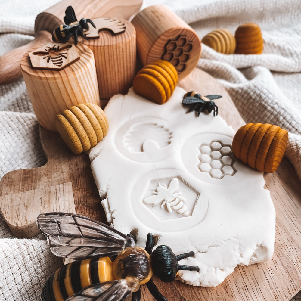 Beadie Bug - Honeybee Playdough Stamp Set