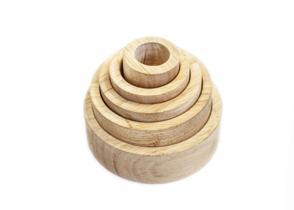 Natural Stacking and Nesting Bowls