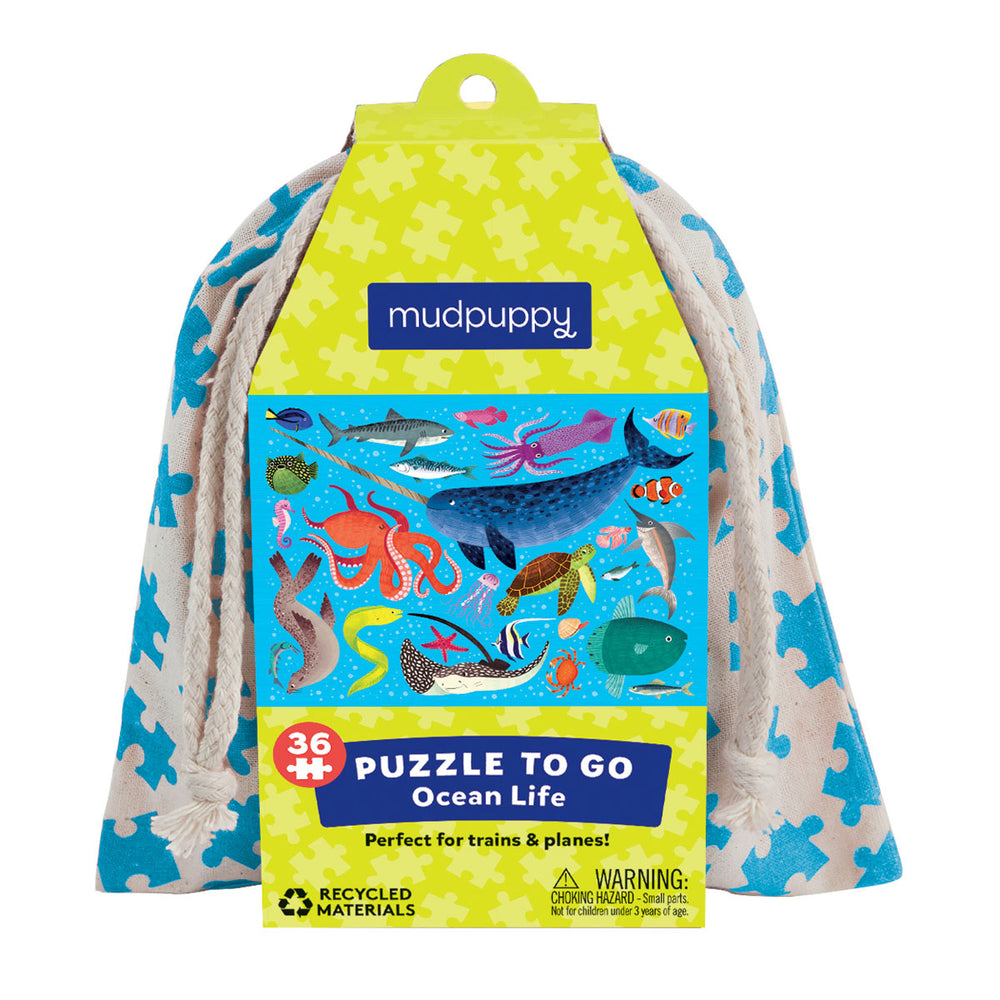 Mudpuppy 36pc To Go Puzzle - Ocean Life