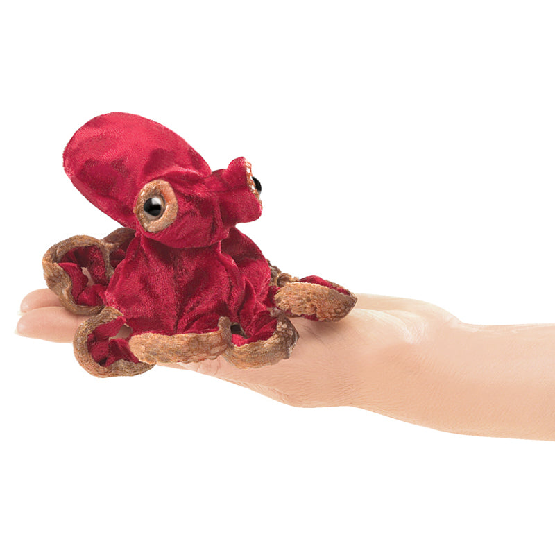 Folkmanis Finger Puppet - Red Octopus
