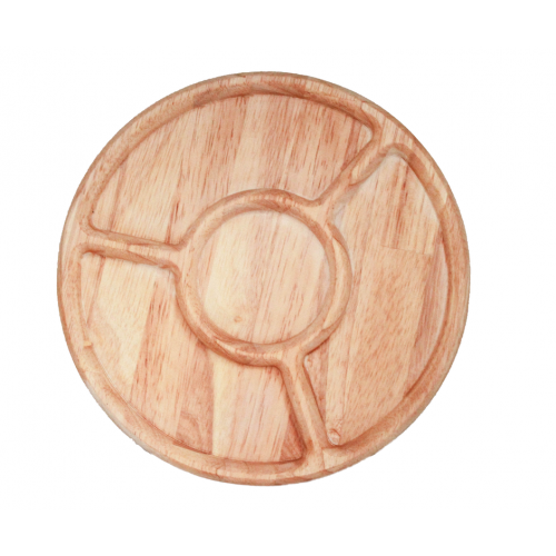 Natural Timber Sorting Tray - Round