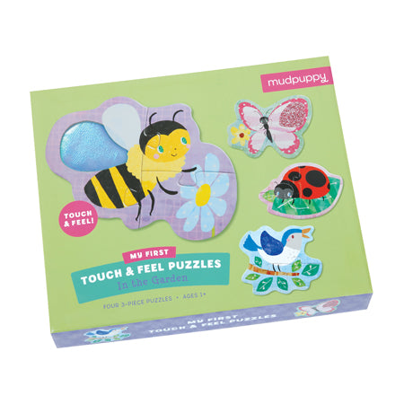 Mudpuppy Touch and Feel Puzzle - In the Garden