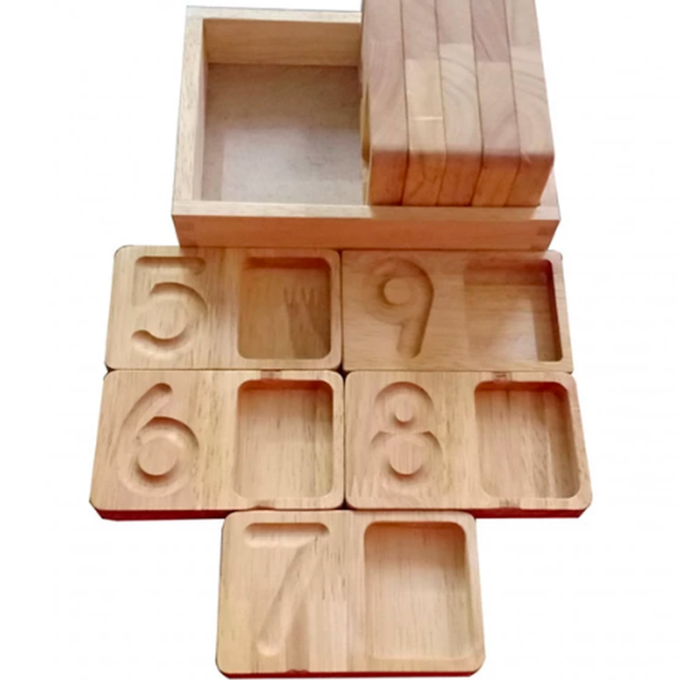 Qtoys - Number Tracing and Collecting Trays