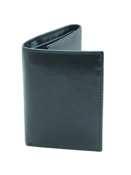 Men's Genuine Leather RFID Blocking Extra Capacity Trifold Wallet - christmasgiftbuy