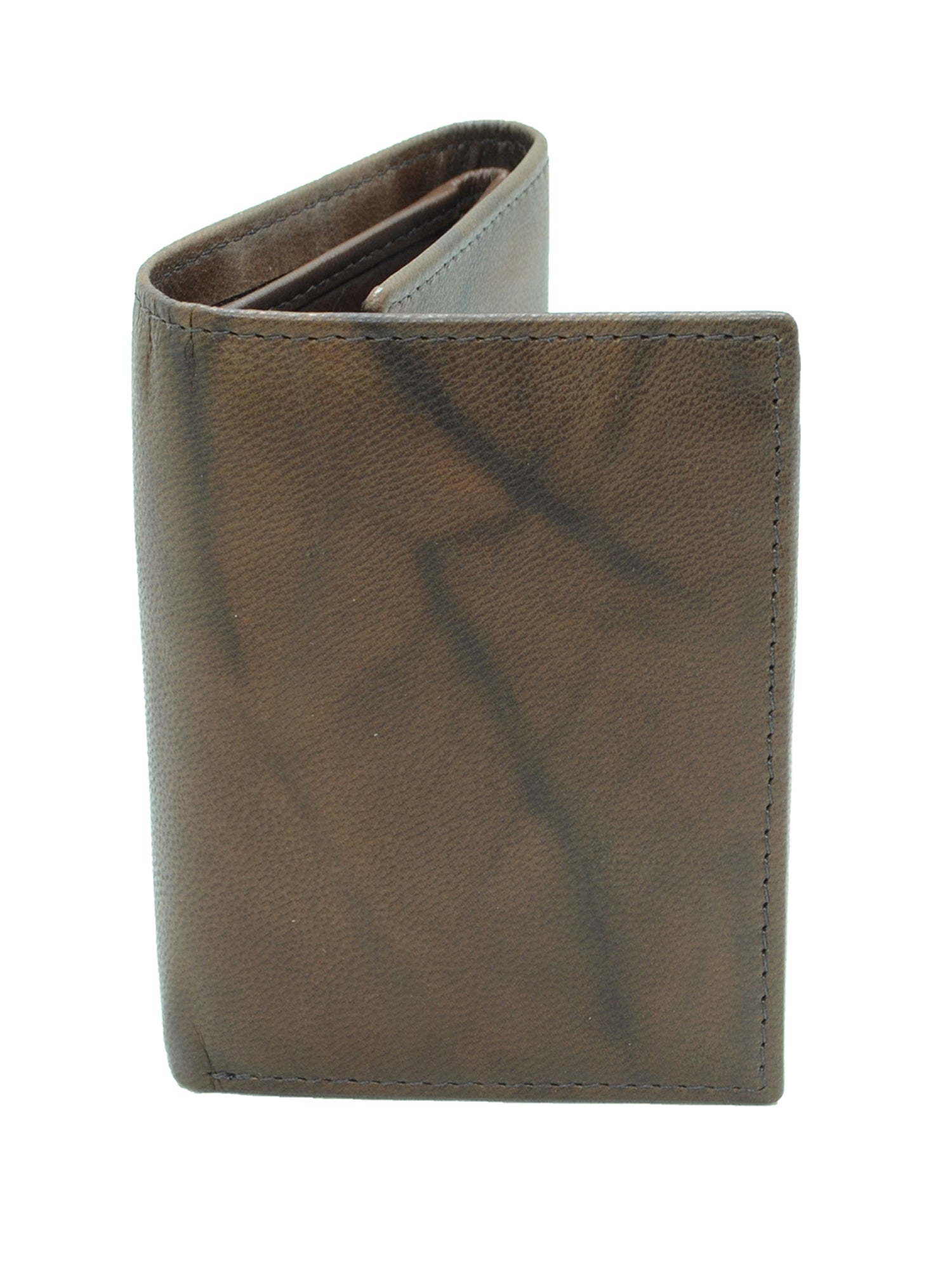 Men's Genuine Leather RFID Blocking Extra Capacity Trifold Wallet