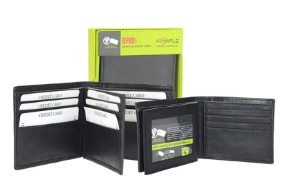 RFID wallet with Multiple pockets and ID compartments