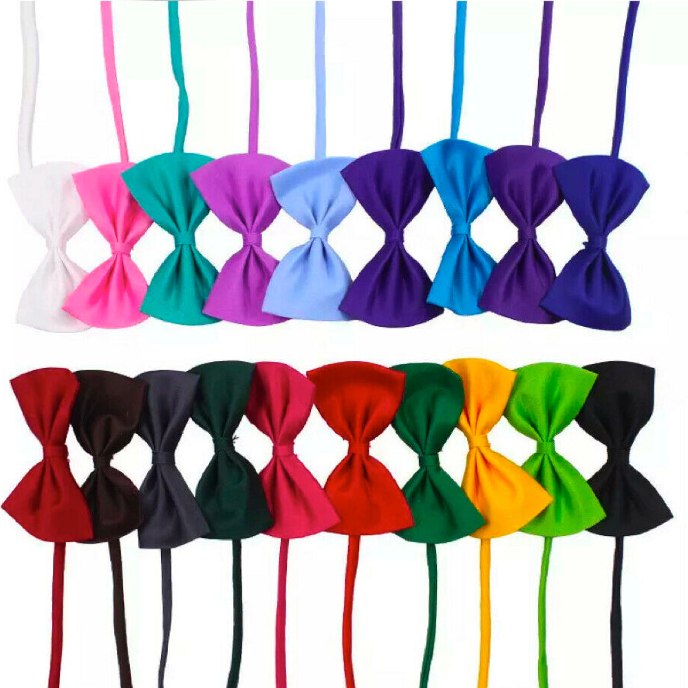 10-Pack Kids Adjustable Bow Tie (Assorted Colors)