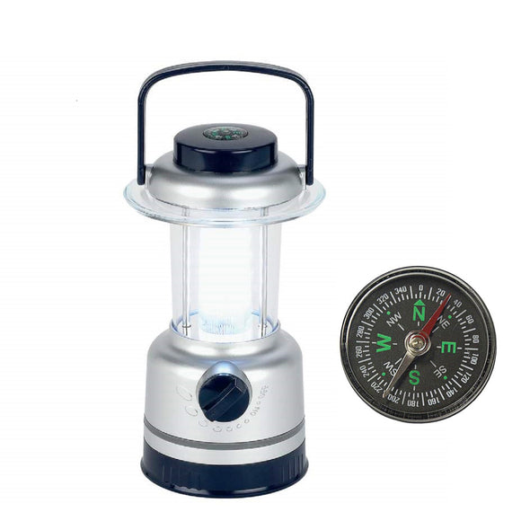 12-LED Dimmable Lantern with Built-In Compass