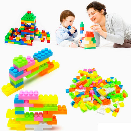 144-Piece Set: Kids' Colorful Toy Building Blocks - christmasgiftbuy
