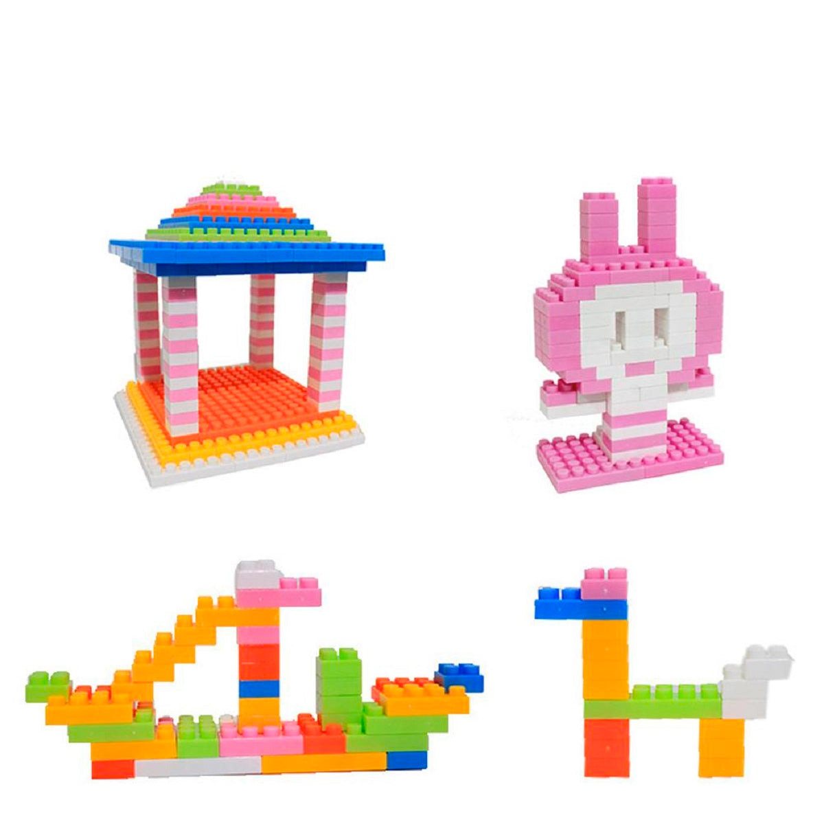 144-Piece Set: Kids' Colorful Toy Building Blocks