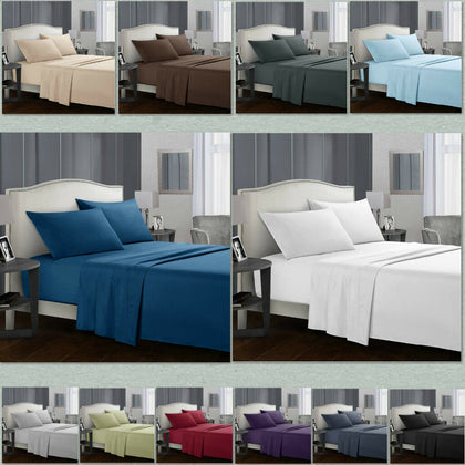 Egyptian Comfort 1800 Count 4 Piece Deep Pocket Bed Sheet Set - christmasgiftbuy