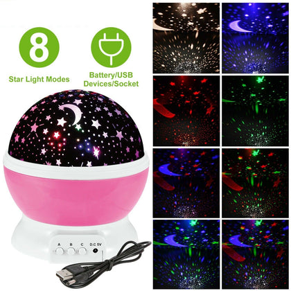 Night Light Kids 360° Rotate Lamp - christmasgiftbuy