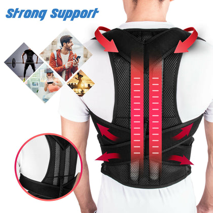 Adjustable Posture Corrector Low Back Support Shoulder Brace Belt - christmasgiftbuy