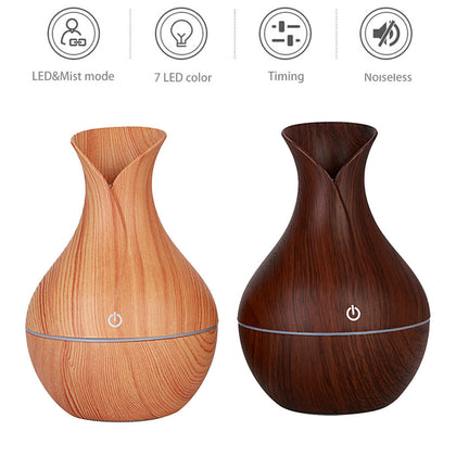 7 Color 130ML Oil Diffuser Made From Wood - christmasgiftbuy