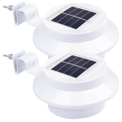 2-Pcs:Solar-Powered Automatic LED Mounted Gutter Night Light