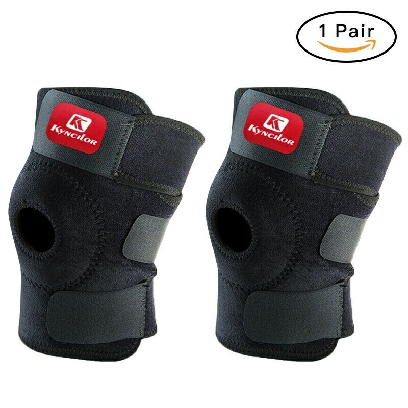 Open Patella Support Adjustable Elastic Sports Kneecap Protector