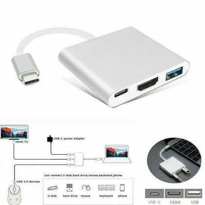 Type C USB 3.1 to USB-C 3.0 4K HDMI Adapter Cable - christmasgiftbuy