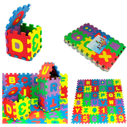 36Pcs Set Baby Child Number Alphabet Puzzle Foam Maths Educational Toy - christmasgiftbuy