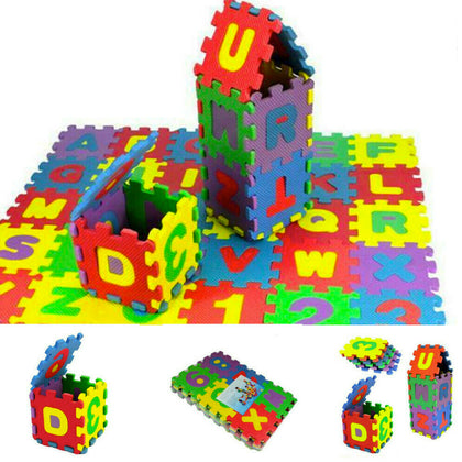 36Pcs Set Baby Child Number Alphabet Puzzle Foam Maths Educational Toy