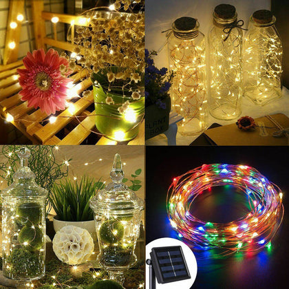 Outdoor Solar String LED Waterproof Copper Wire Lights - christmasgiftbuy