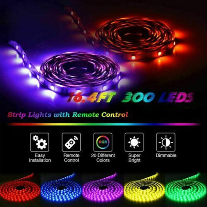 Led Strip Lights 16.4ft RGB Led Room Lights With Color Changing - christmasgiftbuy