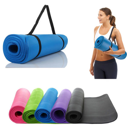 10mm Thick Yoga Mat Exercise Fitness Meditation Pad Non-Slip - christmasgiftbuy