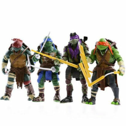 4PCS Lot TMNT Teenage Mutant Ninja Turtles Action Figures Anime Movie Xmas Gift - christmasgiftbuy