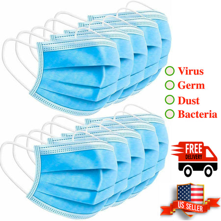 Disposable Face Mask Anti-Flu Dust Proof 3-Ply Earloop LOT Wholesale - christmasgiftbuy