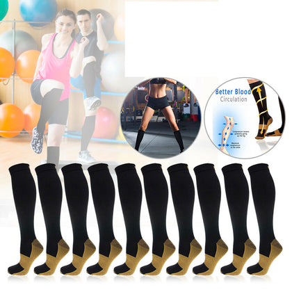 Unisex Soft Anti-Fatigue Copper Compression Socks-5 PAIR - christmasgiftbuy
