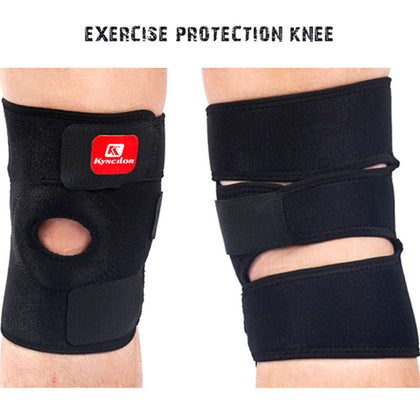 Open Patella Support Adjustable Elastic Sports Kneecap Protector - christmasgiftbuy