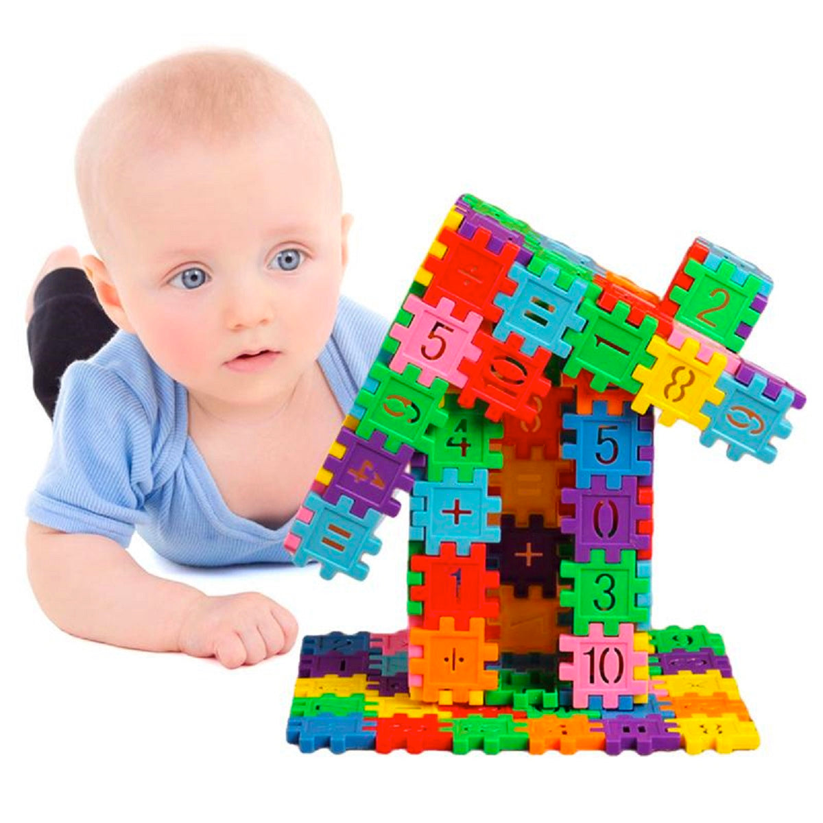 80-Piece Mini Educational Kids Toy Blocks Set