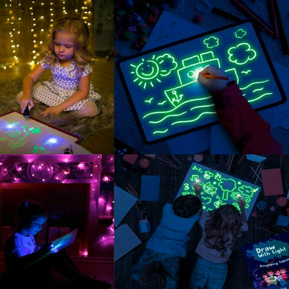 Draw With Light Kids' Learning Tablet Magic Drawing Board - christmasgiftbuy