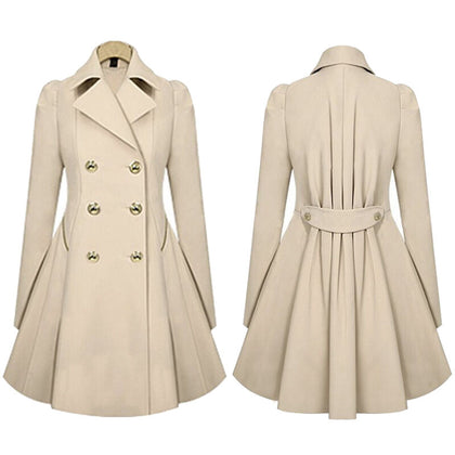 Women Winter Warm Slim Suit Long Peacoat Coat