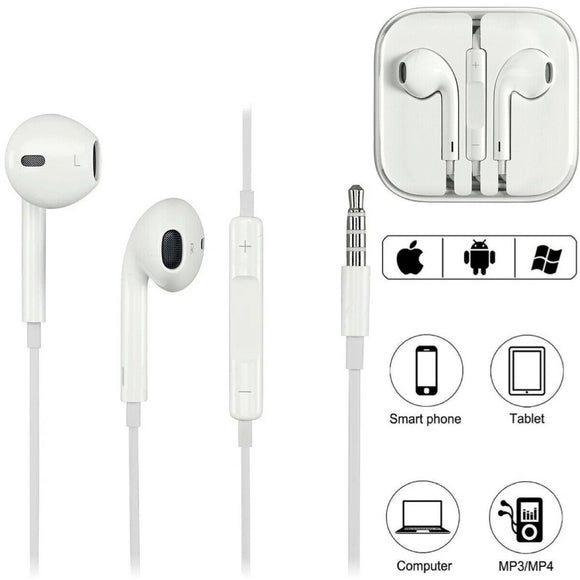 2: Pack Aux-Connector Earbuds with Remote & Microphone