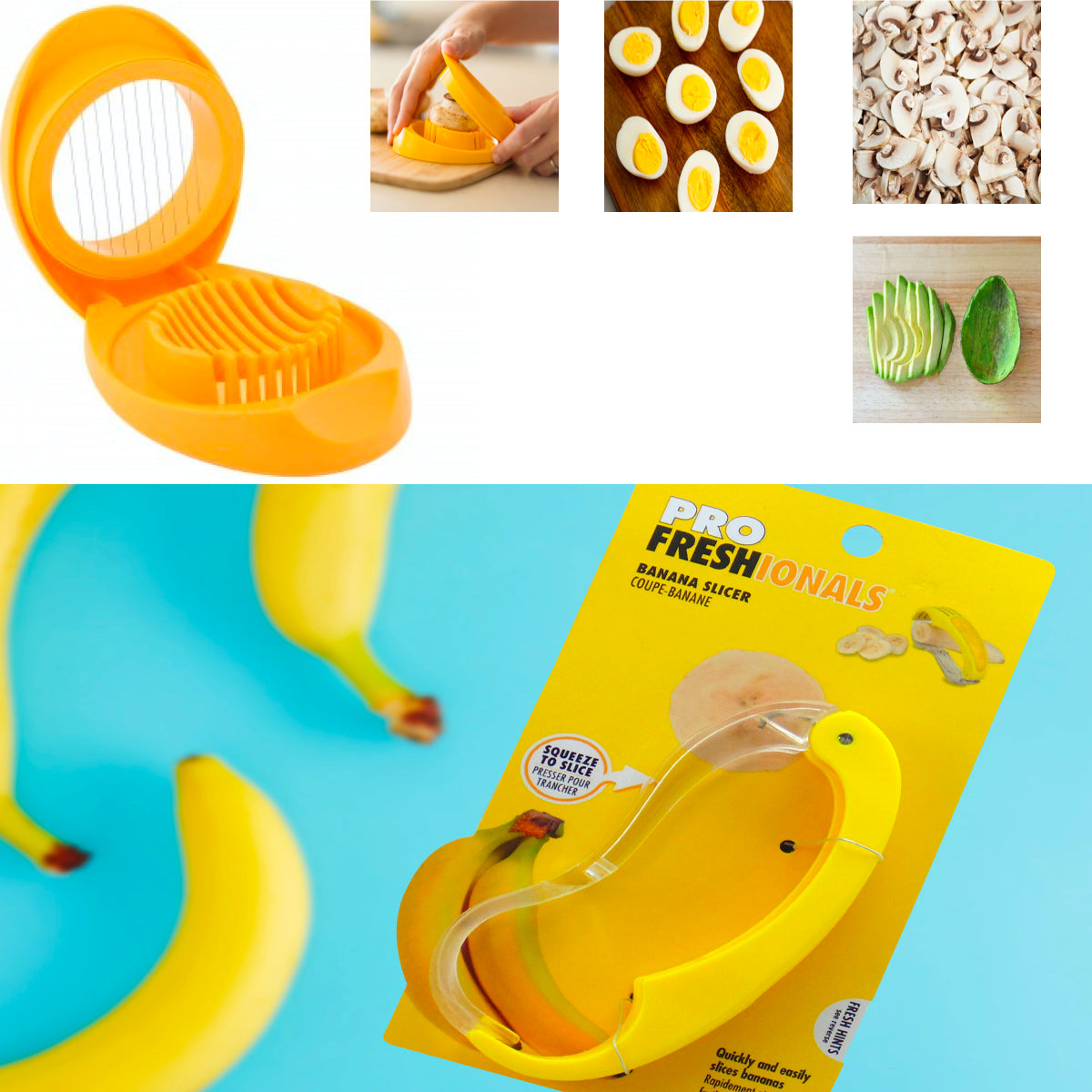 2-Pack: Durable Easy-to-Use Banana & Egg (Avocado) Slicers