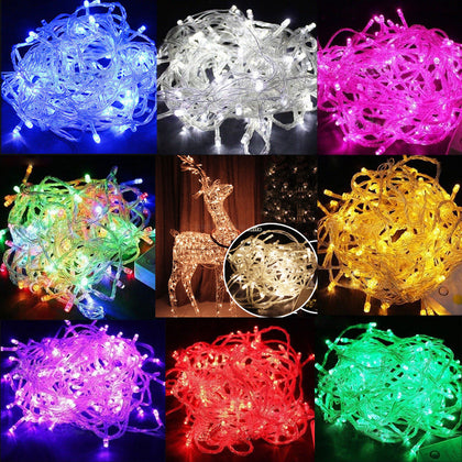 Christmas Lights 33' 100-LED Fairy Light String with 8 Movement Patterns - 9 Colors - christmasgiftbuy