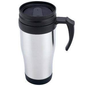 Stainless Steel Lined Travel Mug with Handle - 16oz