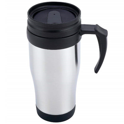 Stainless Steel Lined Travel Mug with Handle - 16oz - christmasgiftbuy