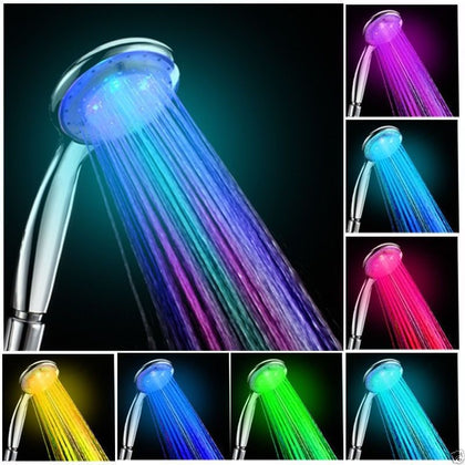 Colorful Changing Shower Head 7 Colors LED Changing Water Glow Light - christmasgiftbuy