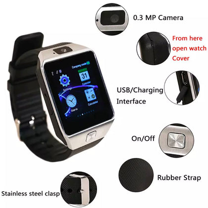 Bluetooth Smart Watch with Camera, Pedometer, Activity Monitor and iPhone/Android Phone Sync - christmasgiftbuy